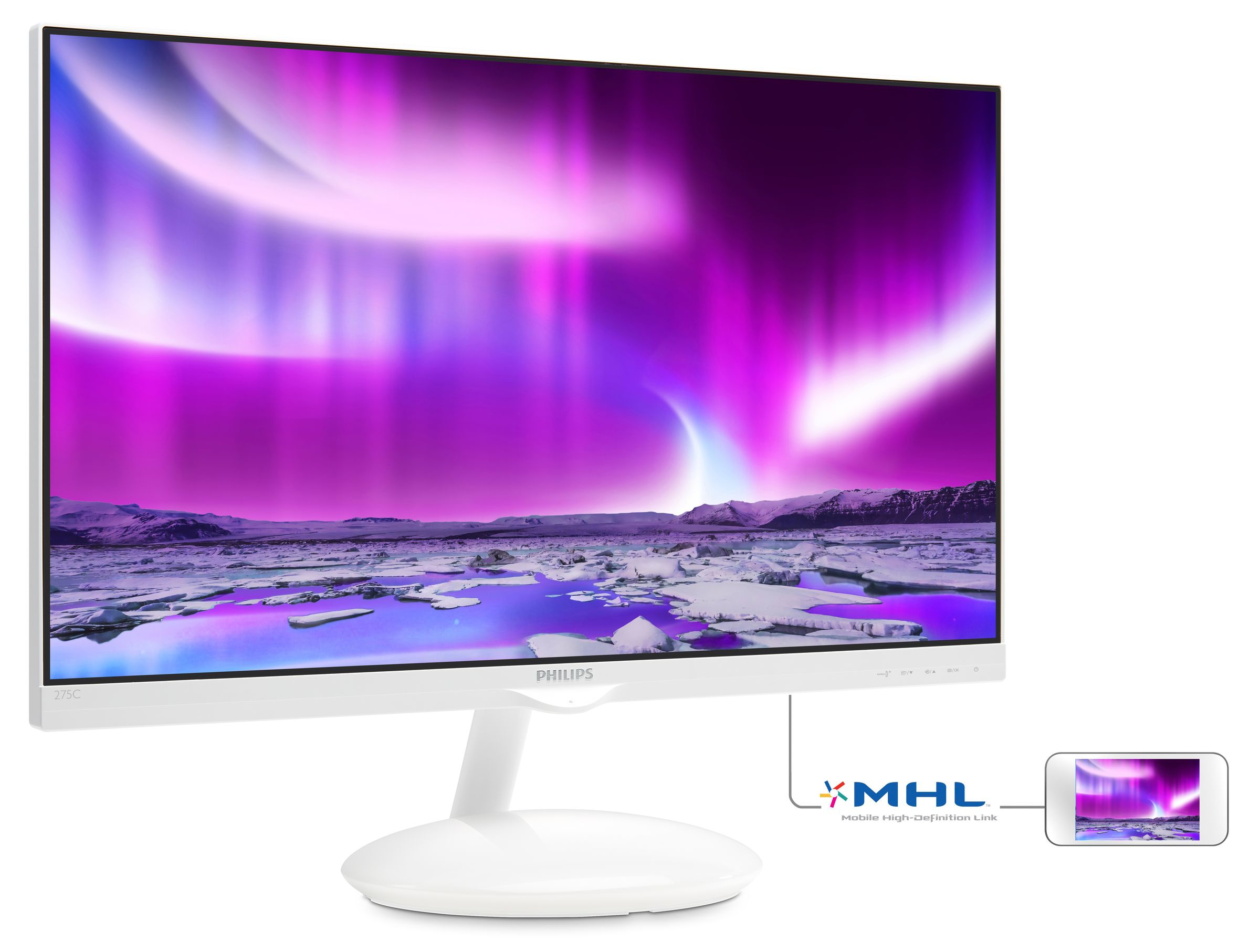 philips monitor lcd con ambiglow plus base 275c5qhgsw 00. Black Bedroom Furniture Sets. Home Design Ideas